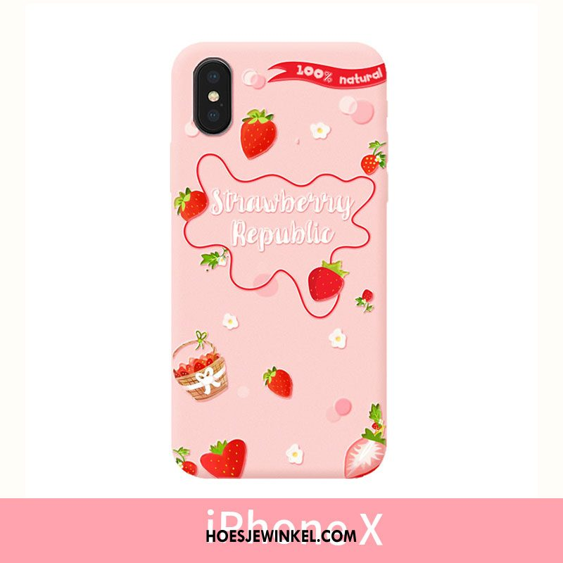 iPhone X Hoesje Hoes Mobiele Telefoon Reliëf, iPhone X Hoesje Bescherming Dun