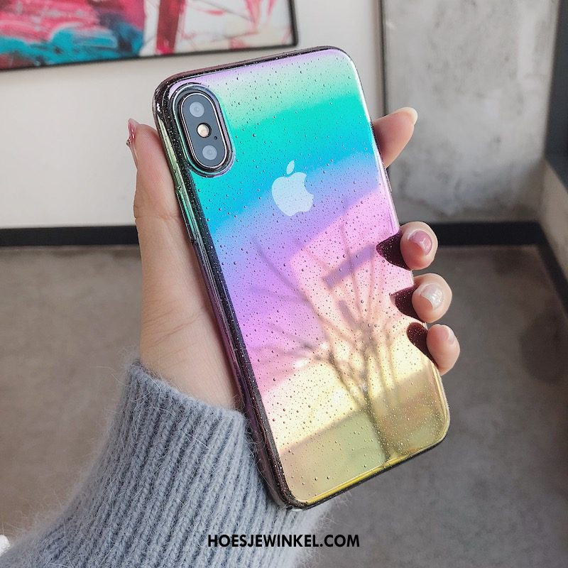 iPhone X Hoesje Purper Mobiele Telefoon Hard, iPhone X Hoesje Vers All Inclusive