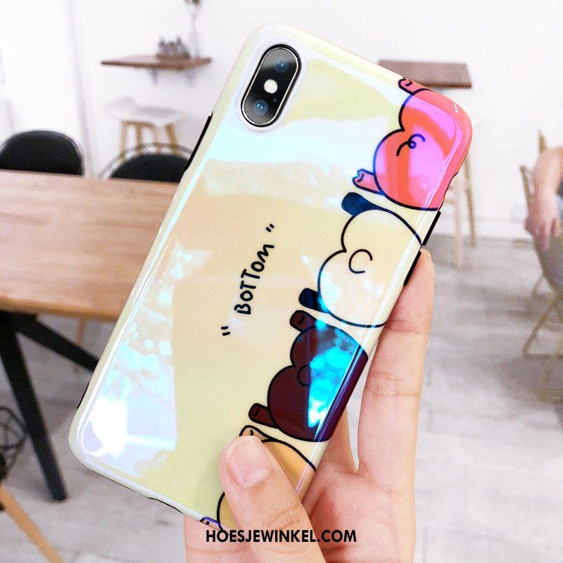 iPhone X Hoesje Vers Lovers Geel, iPhone X Hoesje Zacht Hoes