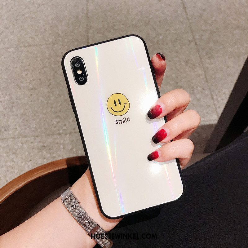 iPhone Xs Hoesje Lovers Eenvoudige Net Red, iPhone Xs Hoesje Spotprent Smiley