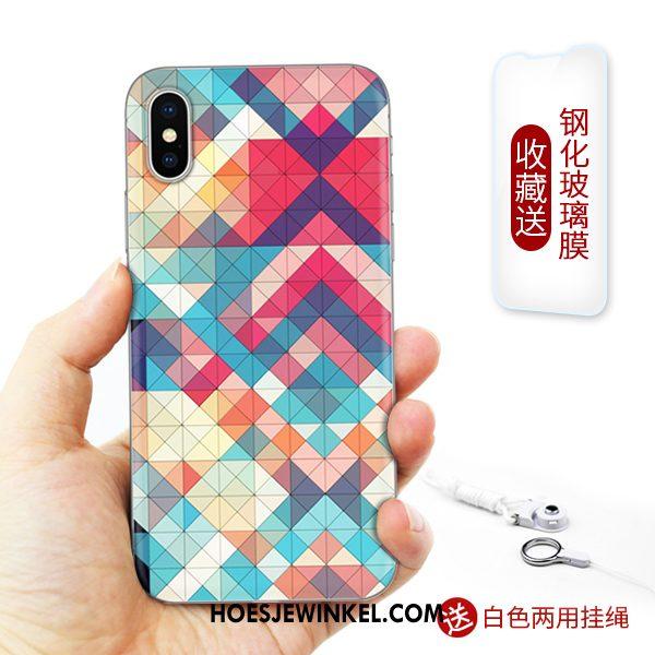 iPhone Xs Hoesje Zacht Siliconen Mobiele Telefoon, iPhone Xs Hoesje Kunst Hoes