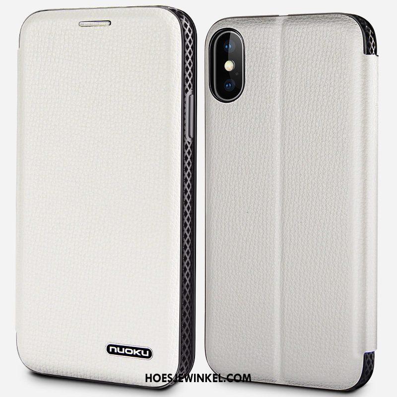 iPhone Xs Max Hoesje Mobiele Telefoon Kaart Koel, iPhone Xs Max Hoesje All Inclusive Hoes Braun