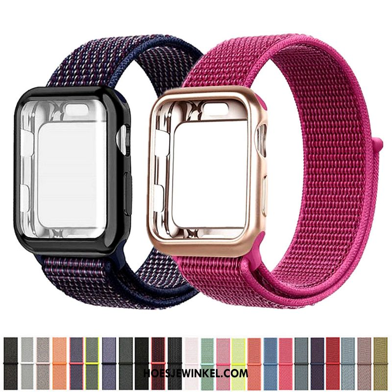 Apple Watch Series 2 Hoesje Rood Nylon, Apple Watch Series 2 Hoesje