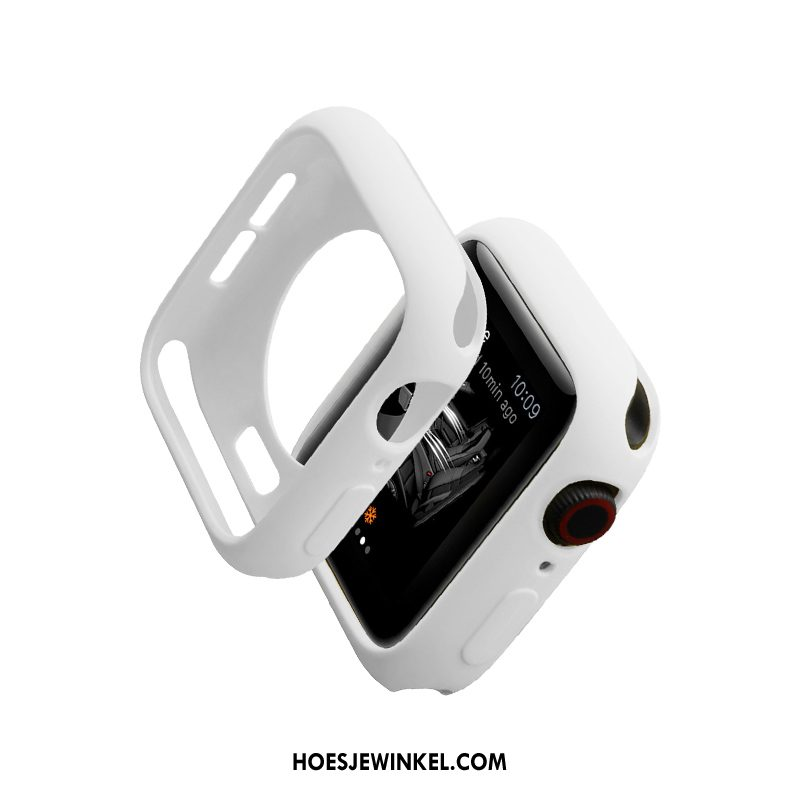 Apple Watch Series 2 Hoesje Wit Siliconen Bescherming, Apple Watch Series 2 Hoesje Hoes Trendy Merk