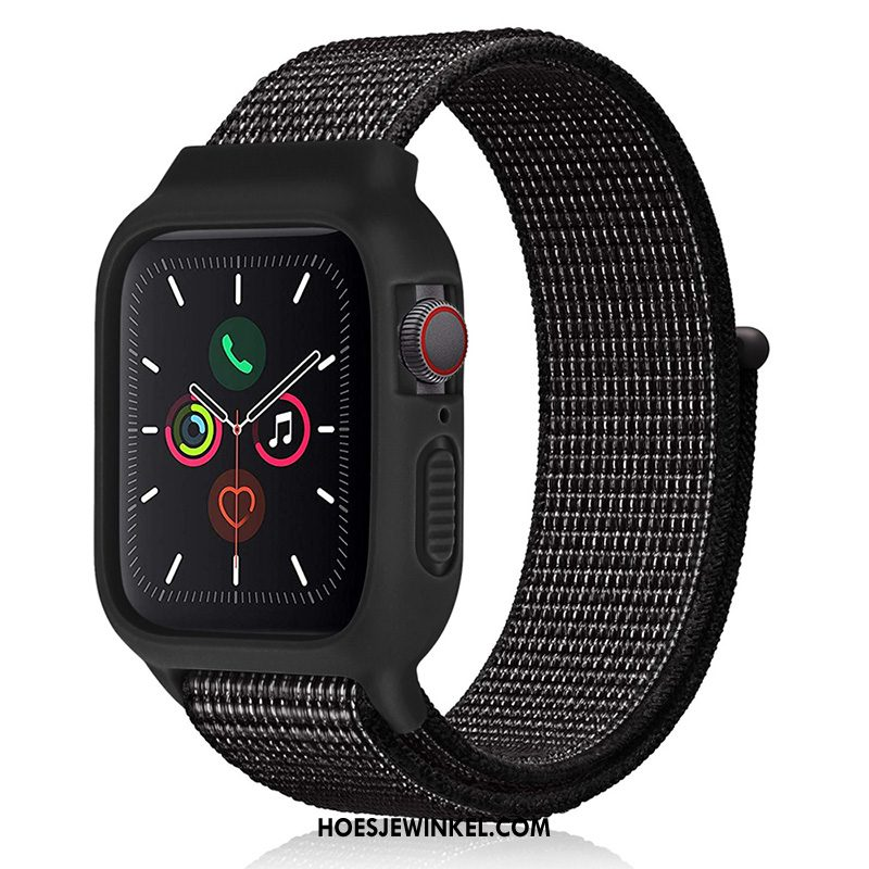 Apple Watch Series 2 Hoesje Zwart Nylon Sport, Apple Watch Series 2 Hoesje Siliconen Nieuw