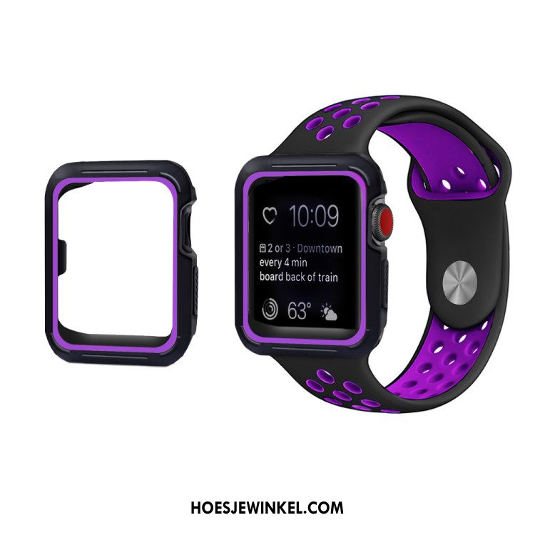 Apple Watch Series 3 Hoesje Anti-fall Hoes Purper, Apple Watch Series 3 Hoesje Bescherming Siliconen