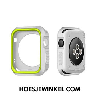 Apple Watch Series 3 Hoesje Bescherming Wit Siliconen, Apple Watch Series 3 Hoesje Hoes Groen
