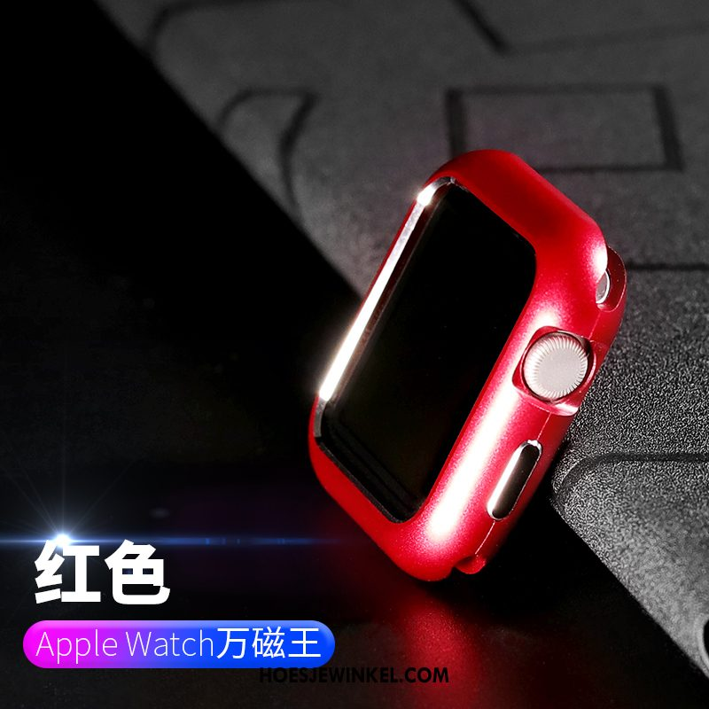 Apple Watch Series 3 Hoesje Metaal Plating Anti-fall, Apple Watch Series 3 Hoesje Hoes Rood