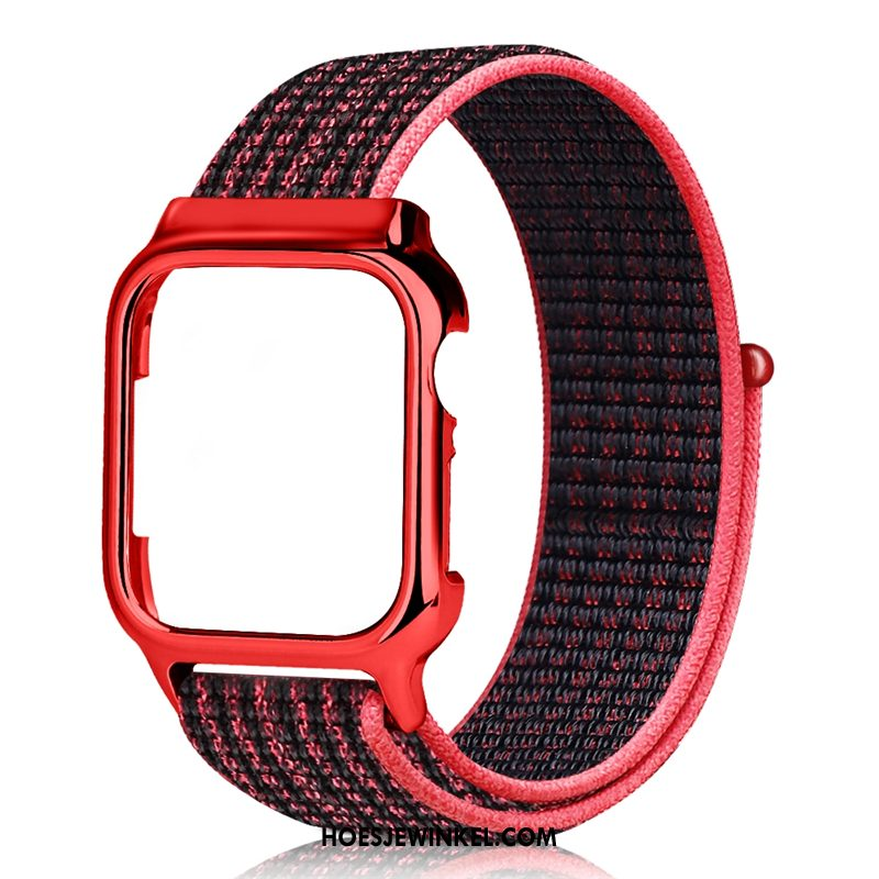 Apple Watch Series 3 Hoesje Scheppend Zwart Rood, Apple Watch Series 3 Hoesje Trend Nylon