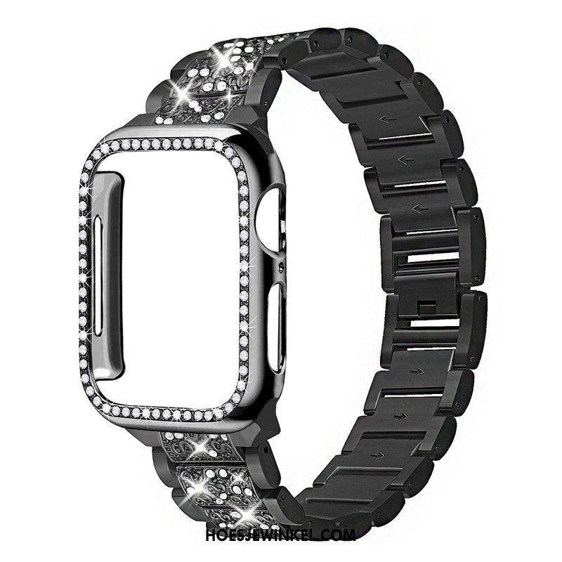 Apple Watch Series 3 Hoesje Strass Zwart Fijne, Apple Watch Series 3 Hoesje