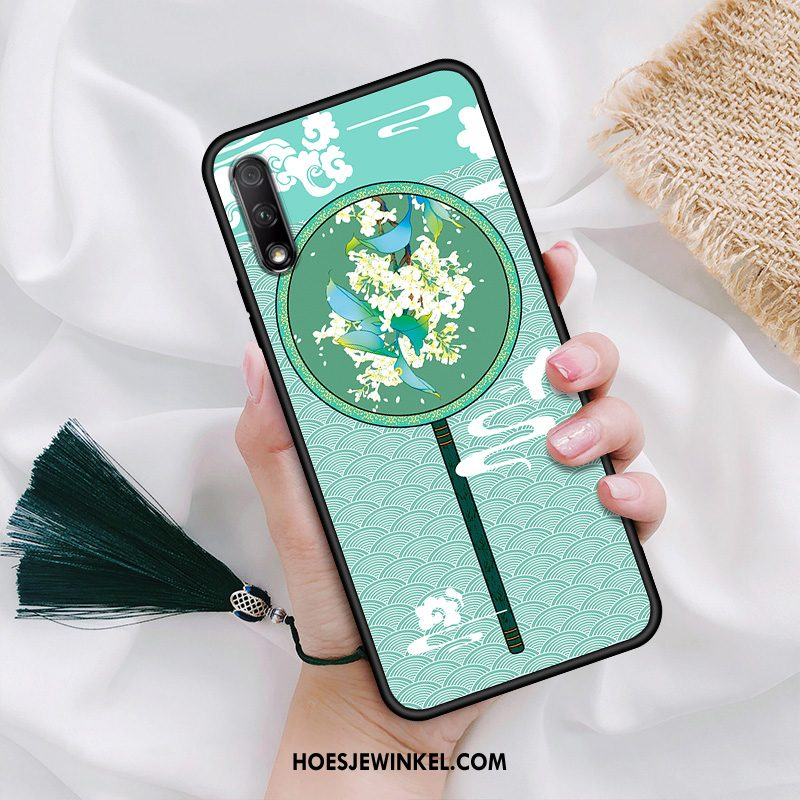 Honor 9x Hoesje Siliconen Vintage Anti-fall, Honor 9x Hoesje All Inclusive Hanger