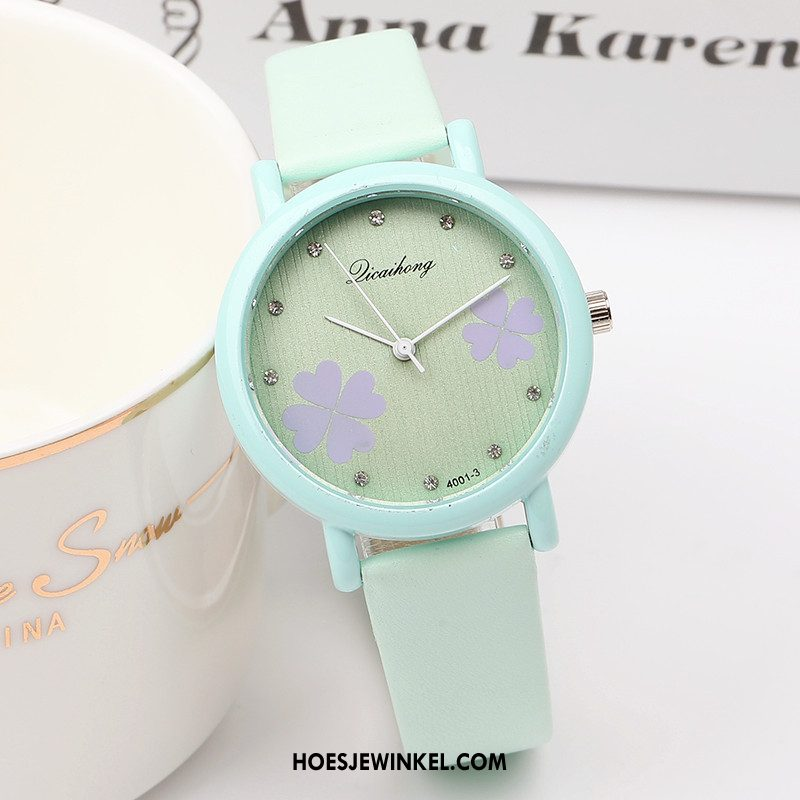 Horloges Dames Gemiddelde Strass Horloge, Horloges Mini Kind