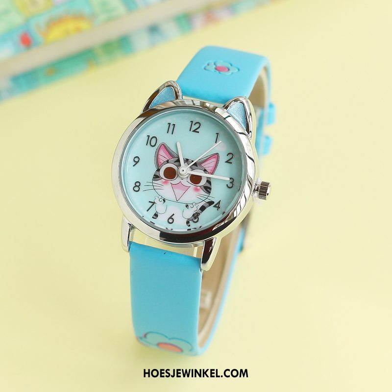 Horloges Dames Horloge Vers Cartoon, Horloges Student Waterdicht