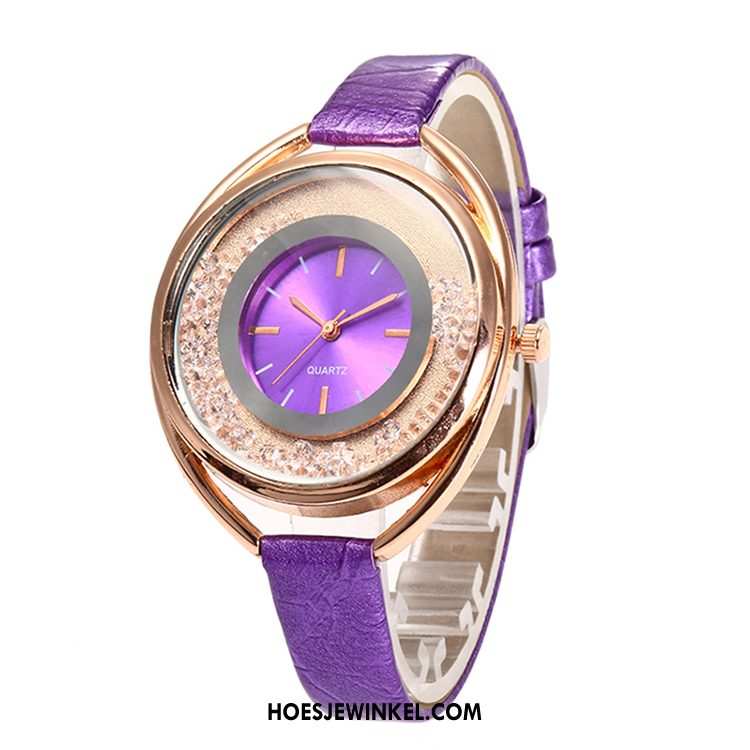 Horloges Dames Vrouwen Strass Quartz Horloge, Horloges Mode Ster