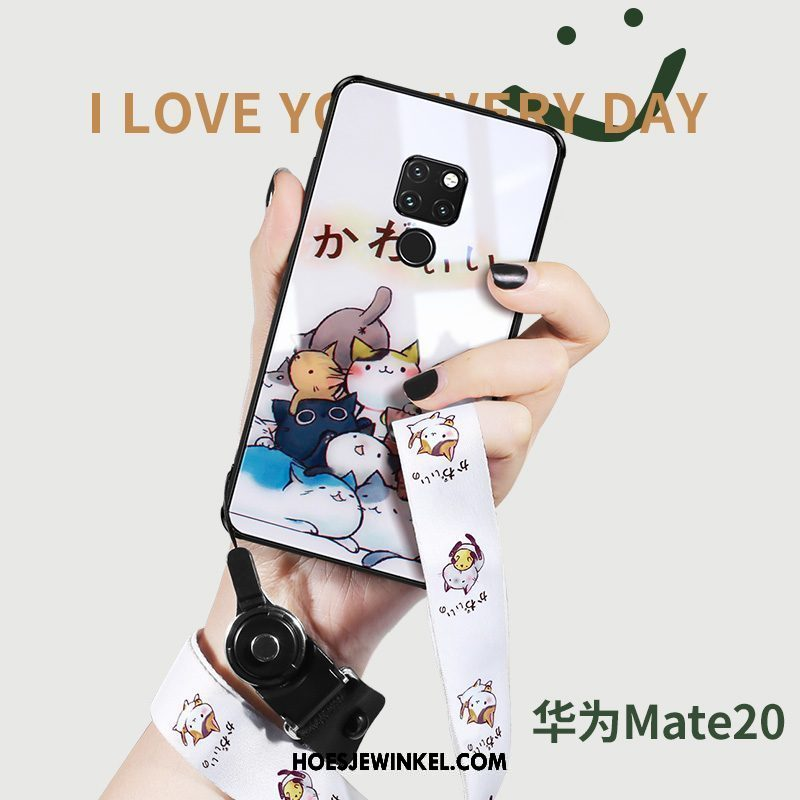 Huawei Mate 20 Hoesje All Inclusive Trend Scheppend, Huawei Mate 20 Hoesje Anti-fall Glas