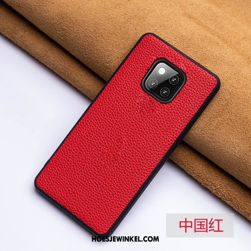 Huawei Mate 20 Pro Hoesje Rood All Inclusive Bescherming, Huawei Mate 20 Pro Hoesje Kwaliteit Pas