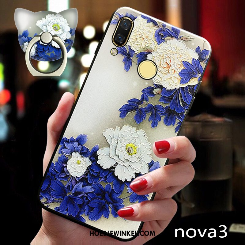 Huawei Nova 3 Hoesje Schrobben All Inclusive Trend, Huawei Nova 3 Hoesje Ring Anti-fall