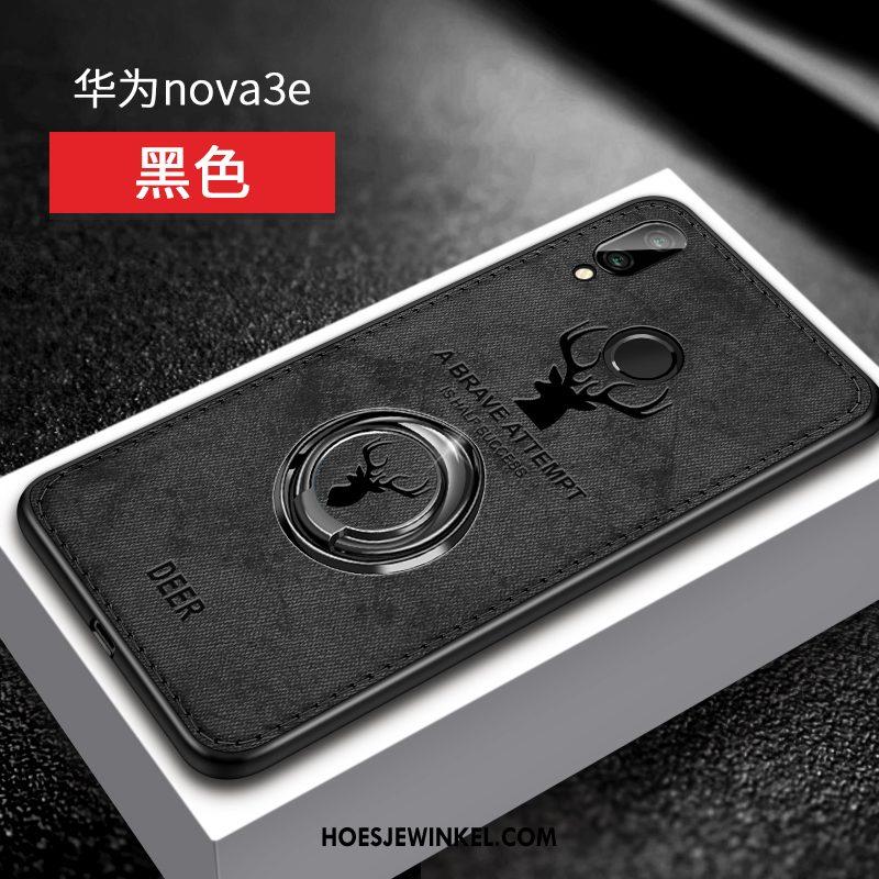 Huawei Nova 3e Hoesje Zacht Ring Bescherming, Huawei Nova 3e Hoesje Anti-fall Trendy Merk