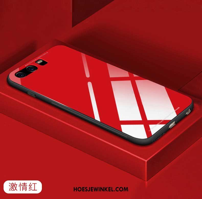 Huawei P10 Hoesje Mobiele Telefoon Wit Hoes, Huawei P10 Hoesje Pu Glas
