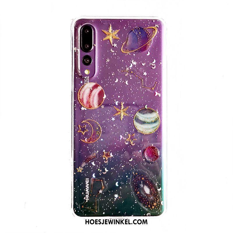 Huawei P20 Pro Hoesje Pas Purper Mobiele Telefoon, Huawei P20 Pro Hoesje Mooie Zacht