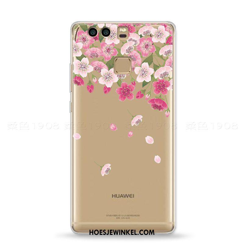 Huawei P9 Hoesje Zacht Mini Vers, Huawei P9 Hoesje Roze Kunst