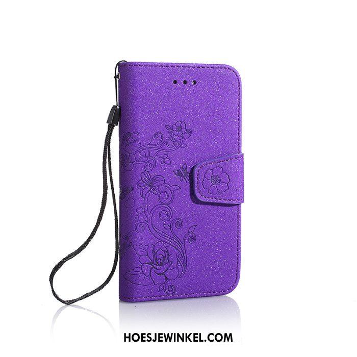 Huawei Y7 2018 Hoesje Folio Mobiele Telefoon Scheppend, Huawei Y7 2018 Hoesje Leren Etui Schrobben