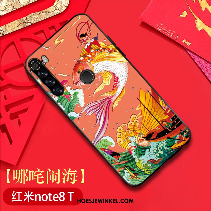 Iaomi Redmi Note 8t Hoesje Original All Inclusive Hoes, Iaomi Redmi Note 8t Hoesje Chinese Stijl Anti-fall Beige