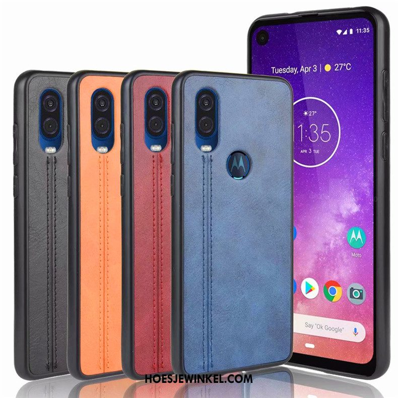 Motorola One Vision Hoesje Hoes Blauw All Inclusive, Motorola One Vision Hoesje Mobiele Telefoon Anti-fall