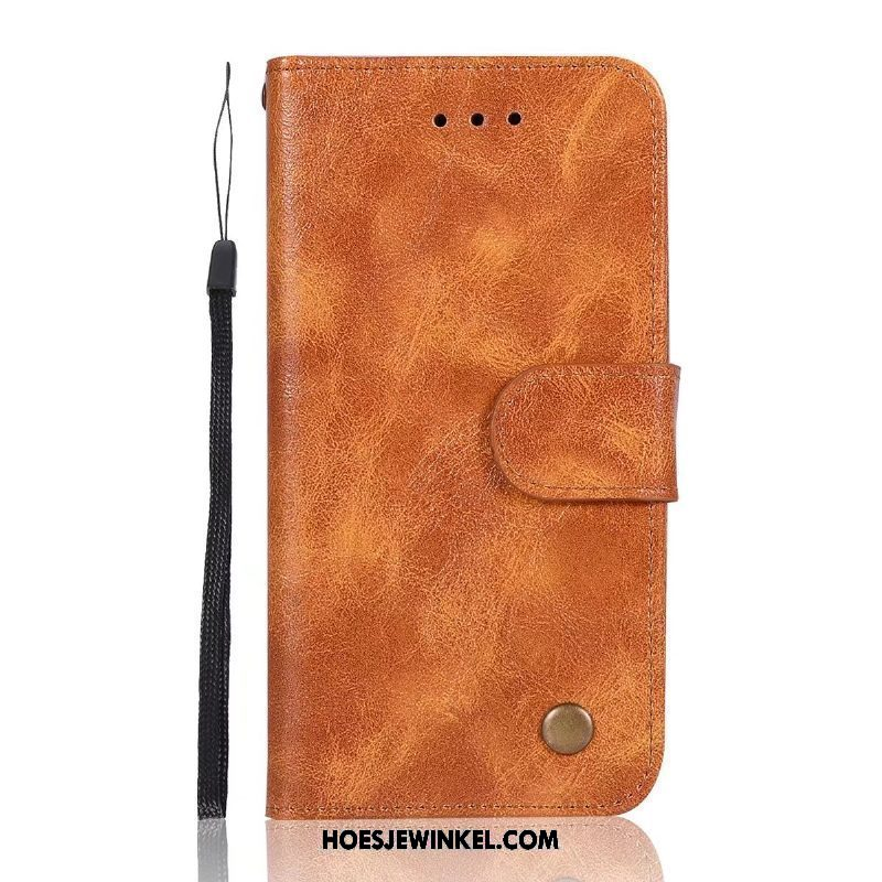Nokia 5 Hoesje Siliconen Bescherming Clamshell, Nokia 5 Hoesje Zacht Leren Etui