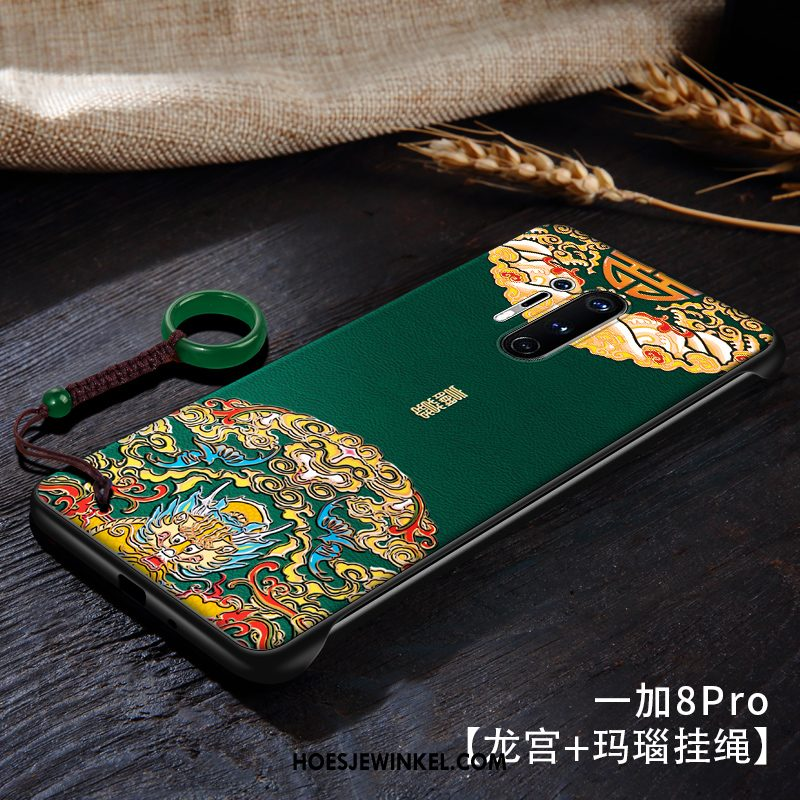 Oneplus 8 Pro Hoesje Omlijsting Vintage High End, Oneplus 8 Pro Hoesje Dun Anti-fall