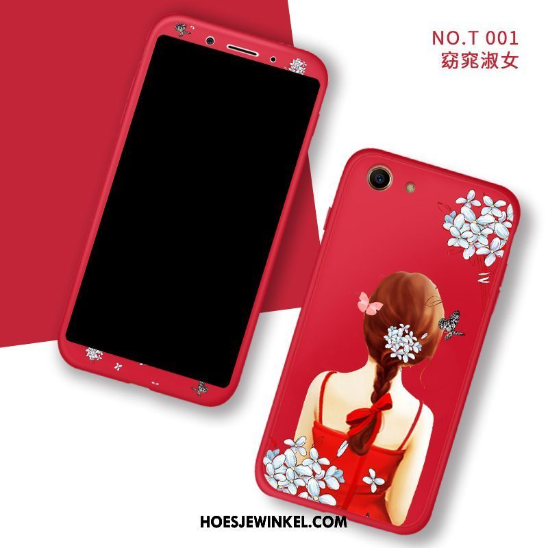 Oppo A83 Hoesje Tempereren Skärmskydd All Inclusive, Oppo A83 Hoesje Anti-fall Hoes