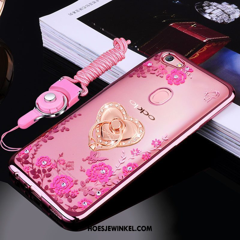 Oppo F7 Hoesje Roze Ring Anti-fall, Oppo F7 Hoesje Hoes All Inclusive