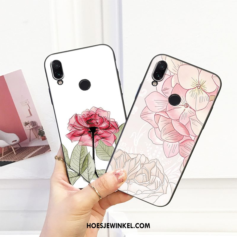 Redmi 7 Hoesje Net Red Zacht Pas, Redmi 7 Hoesje Spotprent Anti-fall Beige