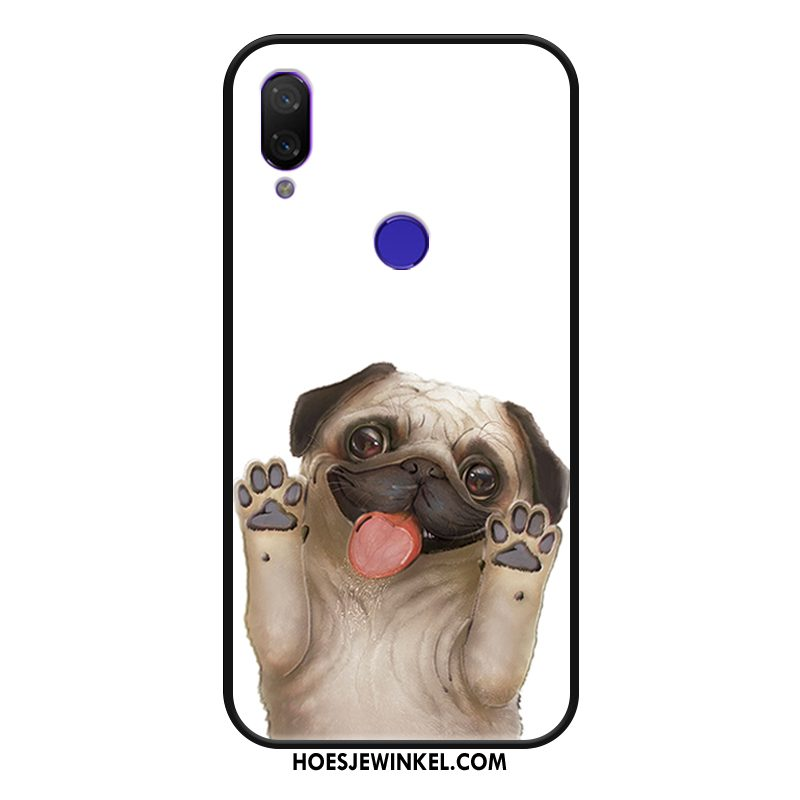 Redmi Note 7 Hoesje Lovers Spotprent Rood, Redmi Note 7 Hoesje Wit Schrobben Beige