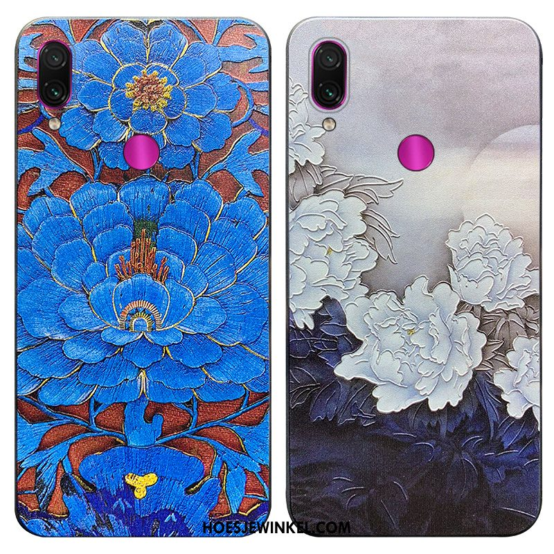 Redmi Note 7 Hoesje Net Red Trendy Merk Scheppend, Redmi Note 7 Hoesje Anti-fall Chinese Stijl Beige