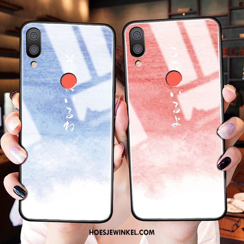 Redmi Note 7 Hoesje Roze Hoes Dun, Redmi Note 7 Hoesje All Inclusive Anti-fall Beige