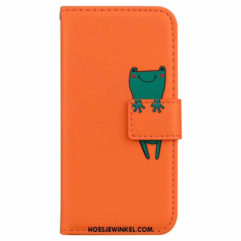 Samsung Galaxy A21s Hoesje Clamshell Oranje Mobiele Telefoon, Samsung Galaxy A21s Hoesje Leren Etui Ster