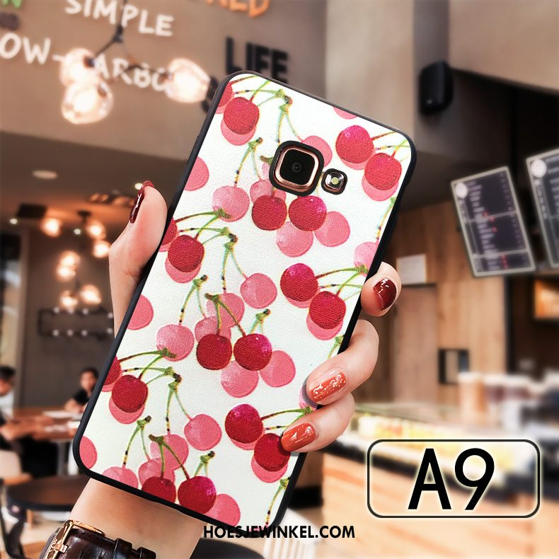 Samsung Galaxy A5 2016 Hoesje Rood Siliconen Ster, Samsung Galaxy A5 2016 Hoesje All Inclusive Anti-fall
