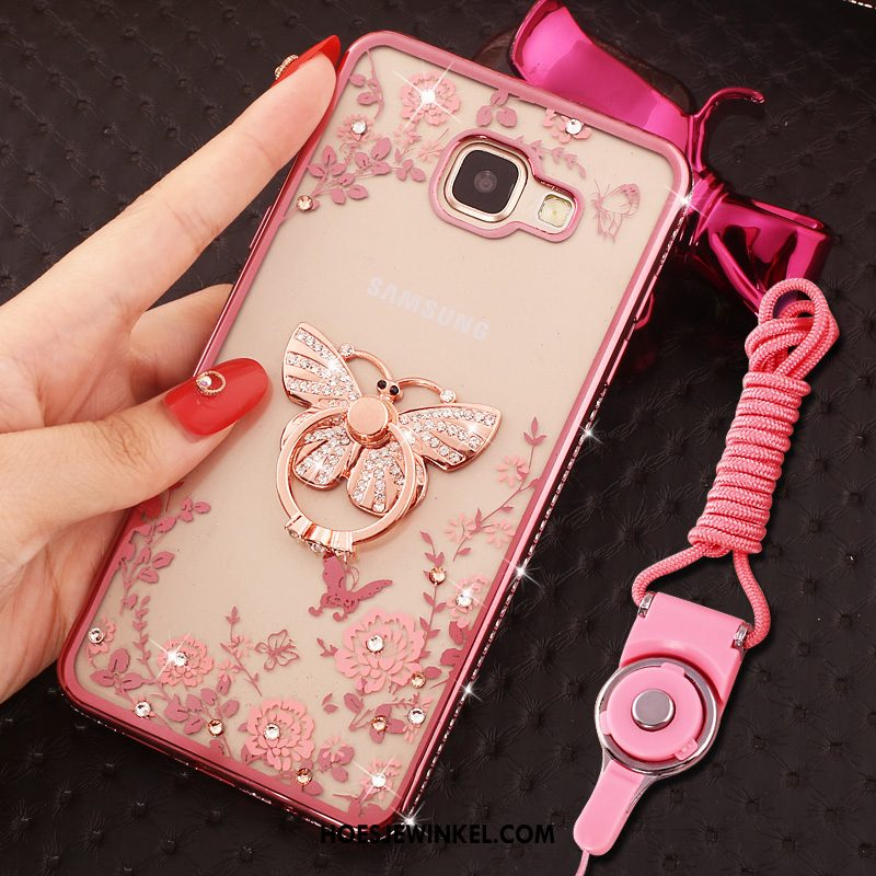 Samsung Galaxy A5 2016 Hoesje Zacht Hoes Rose Goud, Samsung Galaxy A5 2016 Hoesje Roze Ster