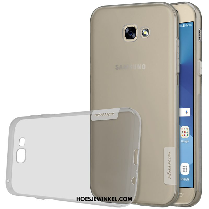 Samsung Galaxy A5 2017 Hoesje Goud Ster Siliconen, Samsung Galaxy A5 2017 Hoesje All Inclusive Grijs