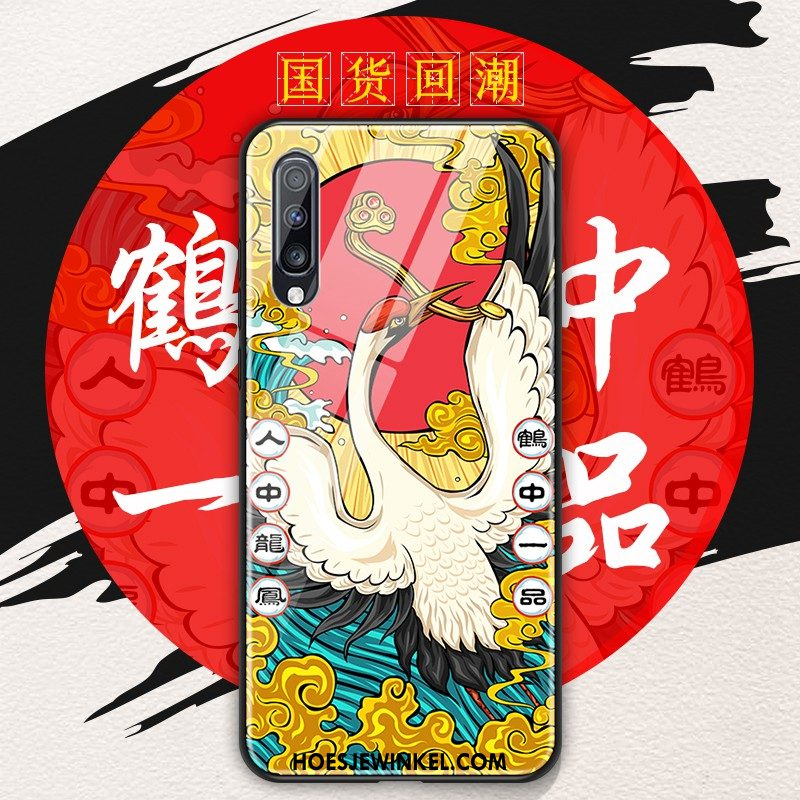 Samsung Galaxy A70 Hoesje Chinese Stijl Scheppend Original, Samsung Galaxy A70 Hoesje Glas Trend