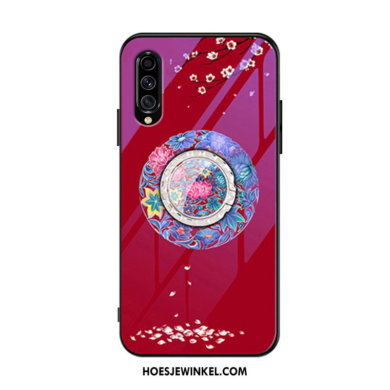 Samsung Galaxy A70s Hoesje Glas All Inclusive Anti-fall, Samsung Galaxy A70s Hoesje Mobiele Telefoon Rood