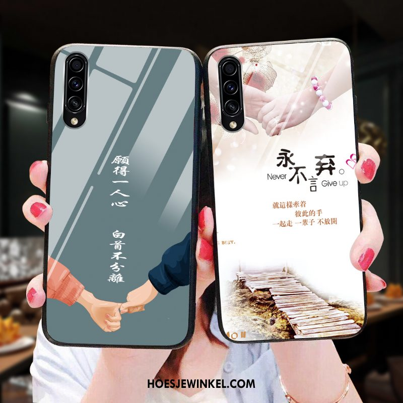 Samsung Galaxy A70s Hoesje Ster Hoes Bescherming, Samsung Galaxy A70s Hoesje Glas Anti-fall