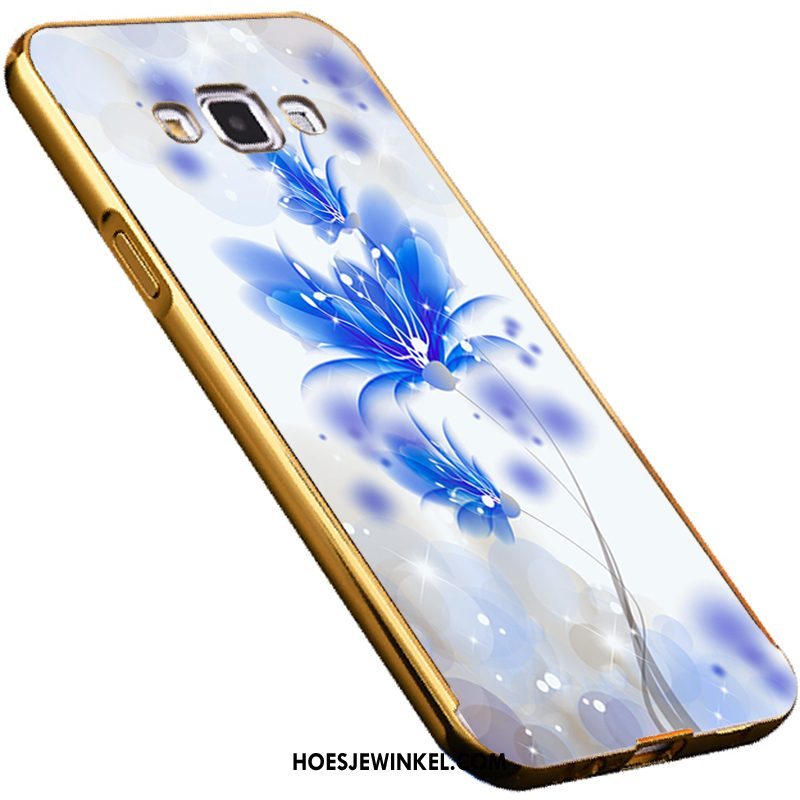 Samsung Galaxy A8 Hoesje All Inclusive Spiegel Omlijsting, Samsung Galaxy A8 Hoesje Blauw Driedimensionaal