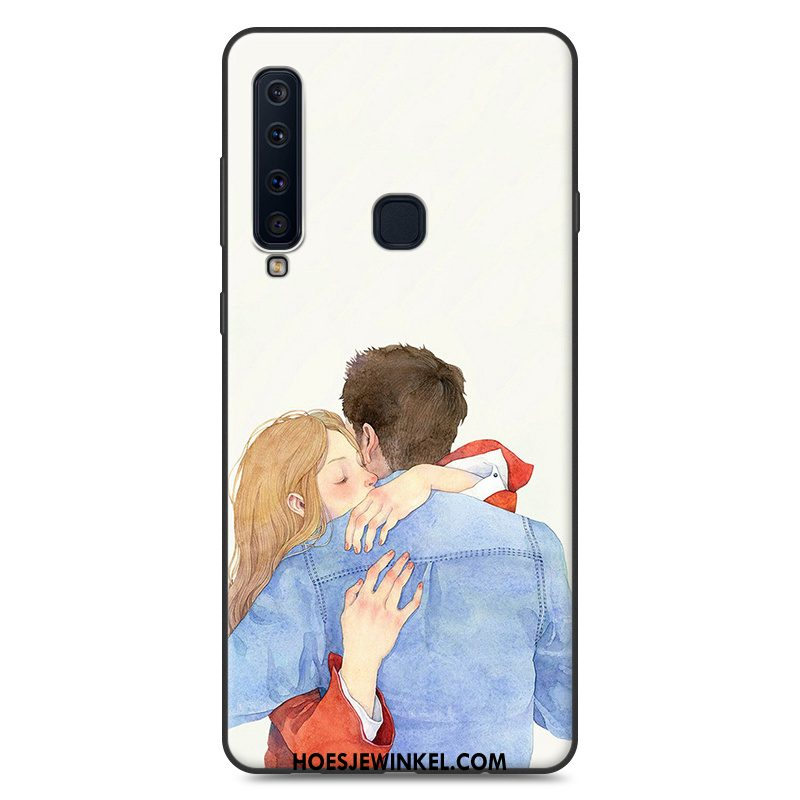 Samsung Galaxy A9 2018 Hoesje Siliconen Ster Blauw, Samsung Galaxy A9 2018 Hoesje Hoes Zacht