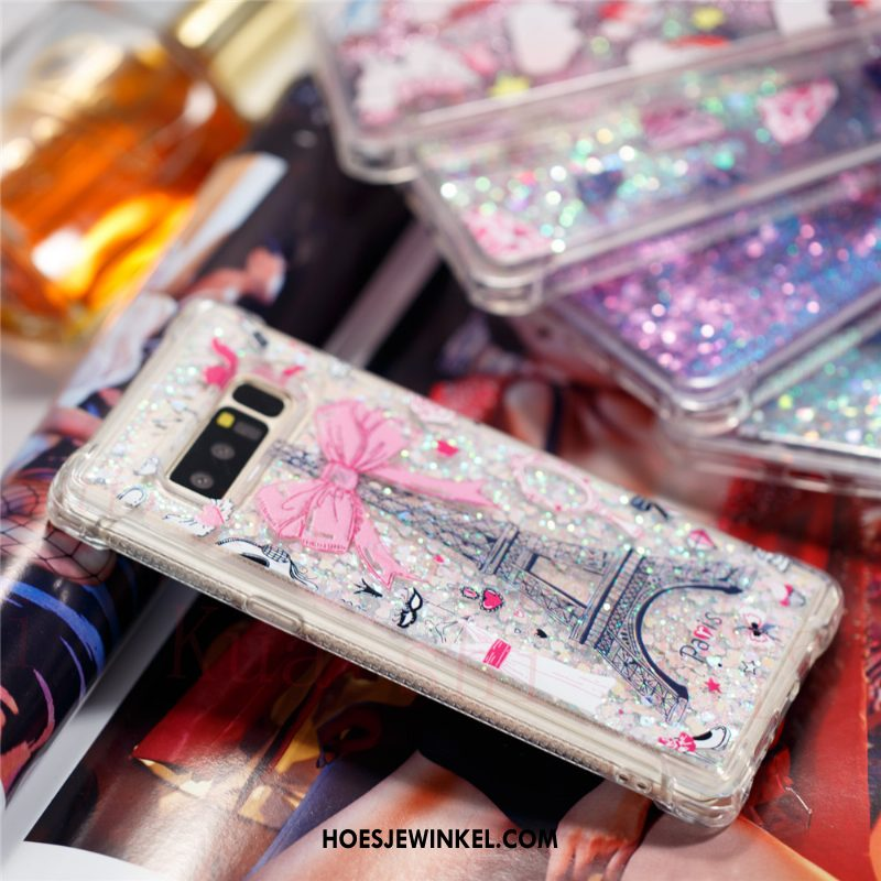Samsung Galaxy Note 8 Hoesje Hoes Drijfzand Siliconen, Samsung Galaxy Note 8 Hoesje Roze Mobiele Telefoon