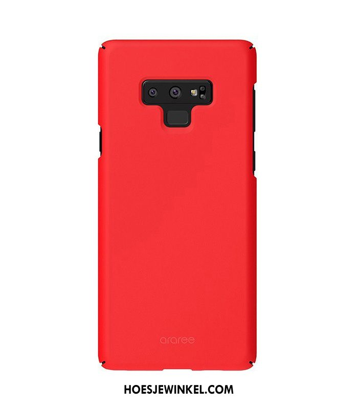 Samsung Galaxy Note 9 Hoesje Echt Rood Anti-fall, Samsung Galaxy Note 9 Hoesje Effen Kleur All Inclusive