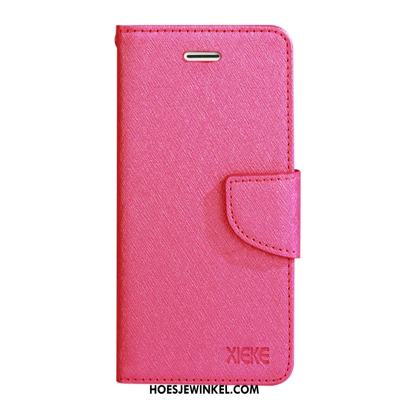 Samsung Galaxy Note20 Hoesje Hoes Patroon Rood, Samsung Galaxy Note20 Hoesje Ster Leren Etui