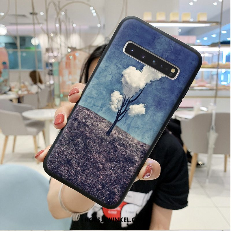 Samsung Galaxy S10 5g Hoesje Chinese Stijl Hoes Ster, Samsung Galaxy S10 5g Hoesje Persoonlijk Scheppend