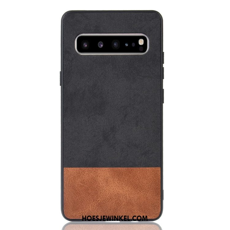 Samsung Galaxy S10 5g Hoesje Hoes Gemengde Kleuren Zwart, Samsung Galaxy S10 5g Hoesje Denim Mobiele Telefoon
